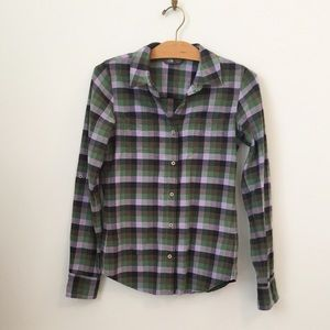 The North Face Checkered Flannel Button-Up Shirt